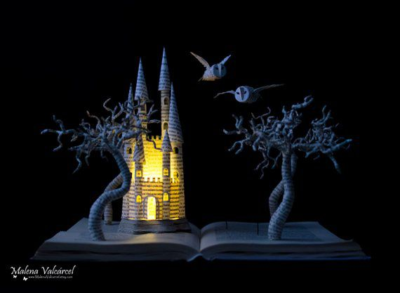 Harry Potter Book Sculpture Etsy