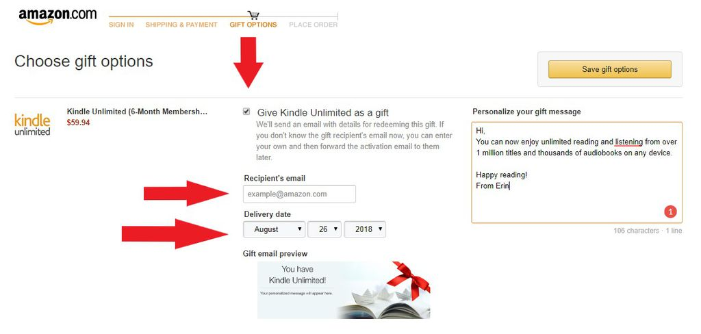 How To Give A Kindle Unlimited Gift To Your Favorite Reader