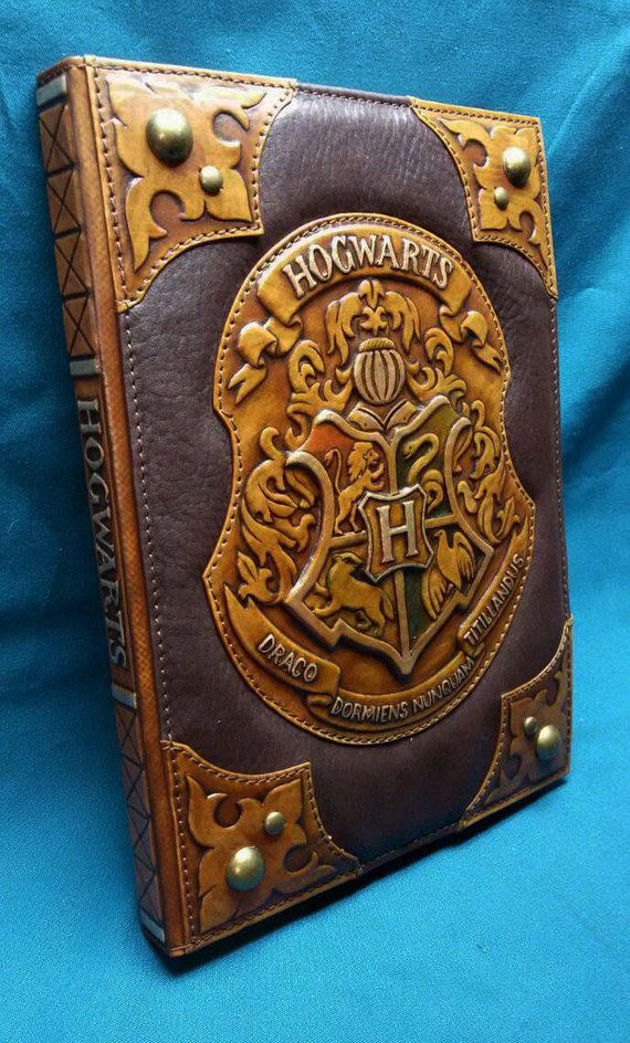 Leather Hogwarts Notebook Etsy