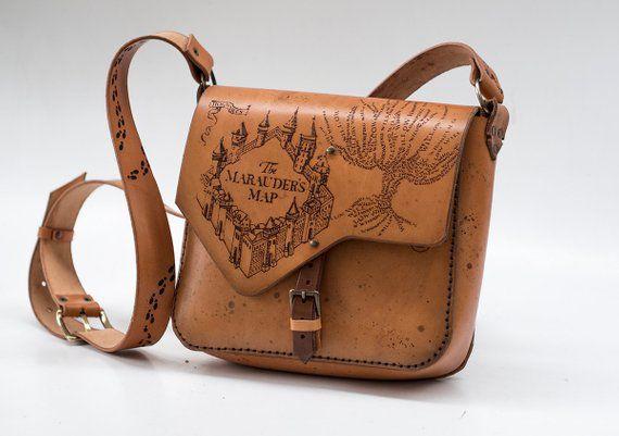 Harry Potter Marauder Bag Hide and Geek Leather Etsy