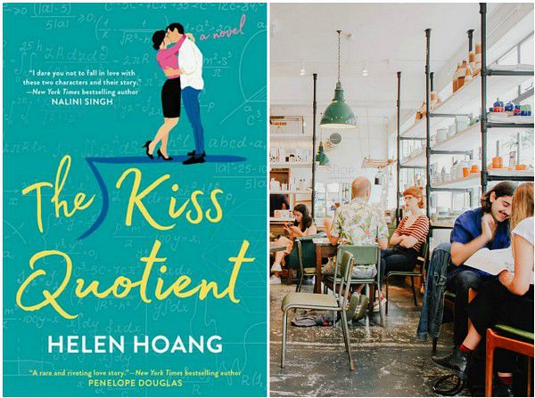 perfect place to read The Kiss Quotient, cafe