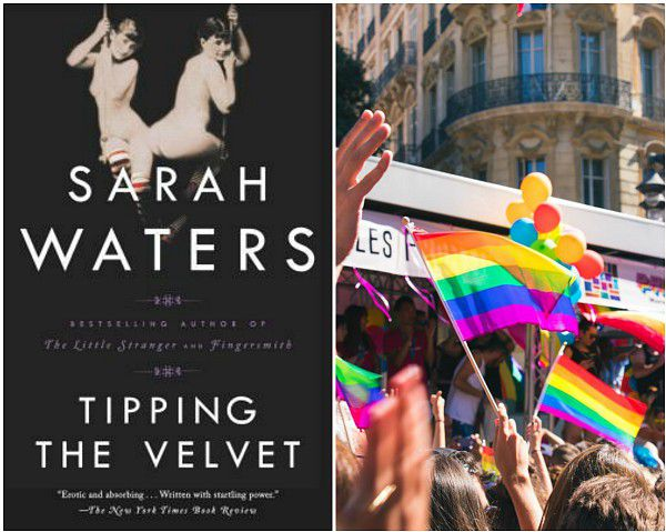 perfect place to read Tipping the Velvet, Pride parade