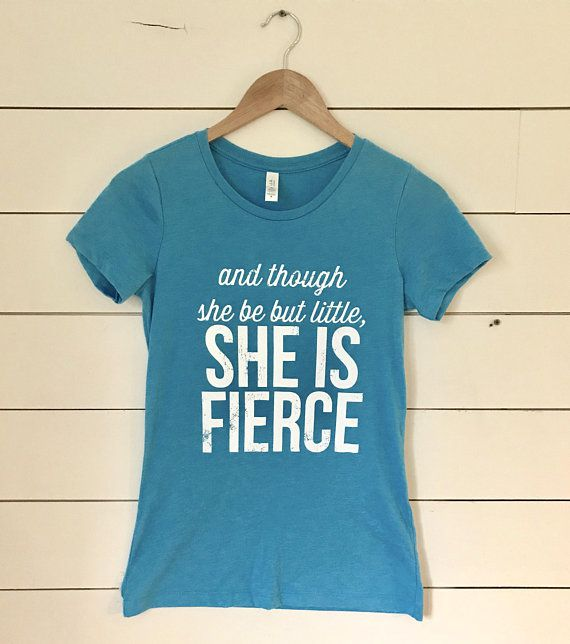 Womens Fitted T-Shirt And Though She Be But Little - YorkSignShop