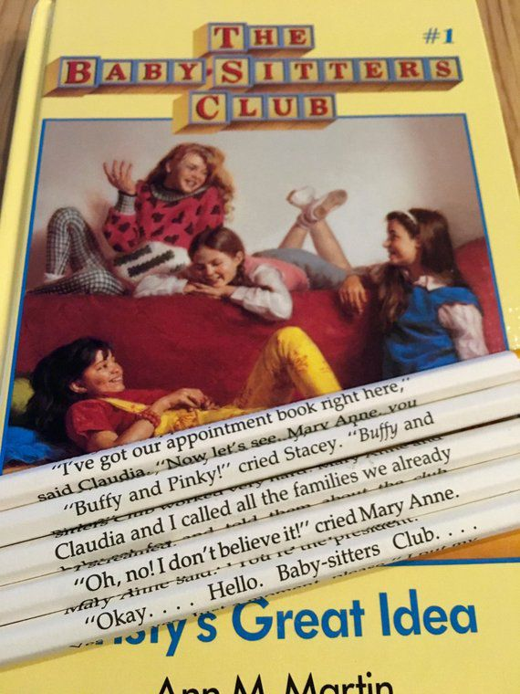 Baby Sitters Club Wrapped Pencils