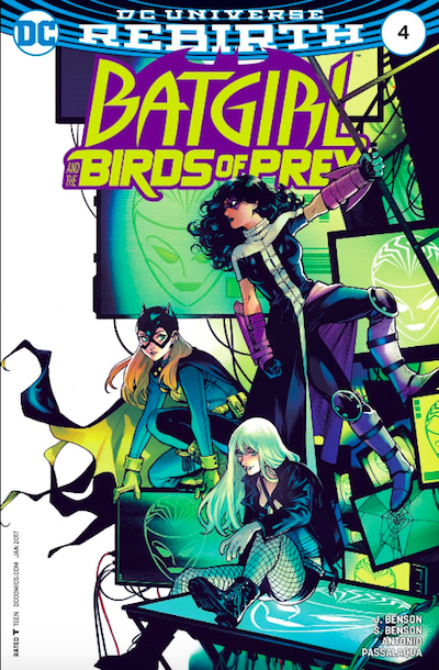 Batgirl and the birds of prey book cover