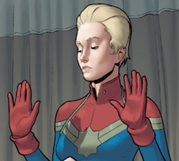 captain marvel carol danvers hair