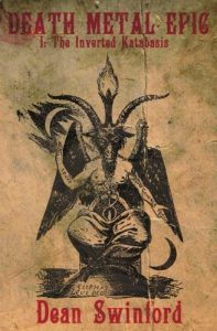 death metal epic cover (tan background with horned goat god)