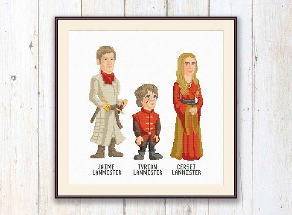 Game of Thrones characters cross stitch patterns