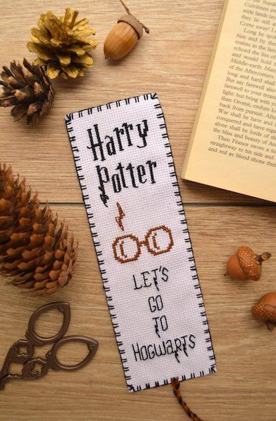 Harry Potter cross stitch bookmark pattern