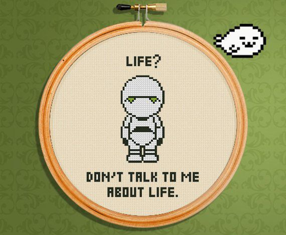 HItchhiker's Guide To The Galaxy cross stitch pattern