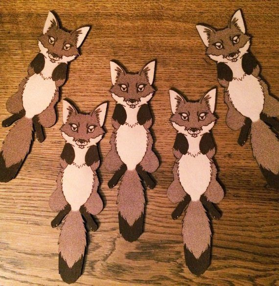 leather bookmark fox
