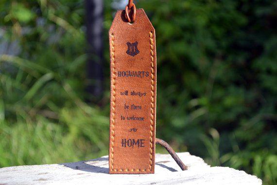 leather bookmark hogwarts