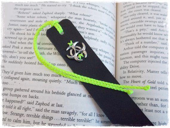 leather bookmark biohazard