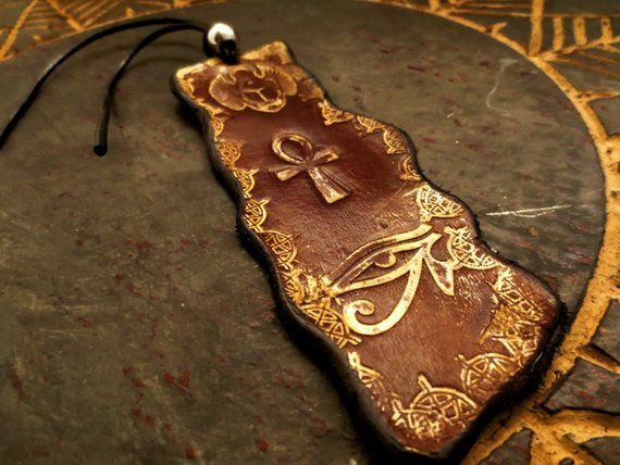 leather bookmark ancient egypt