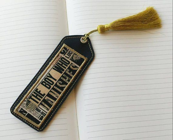 leather bookmark harry potter