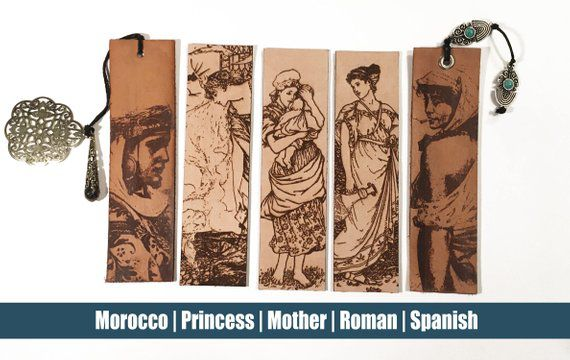 leather bookmarks history women
