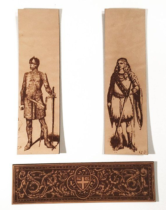 leather bookmarks knights shields