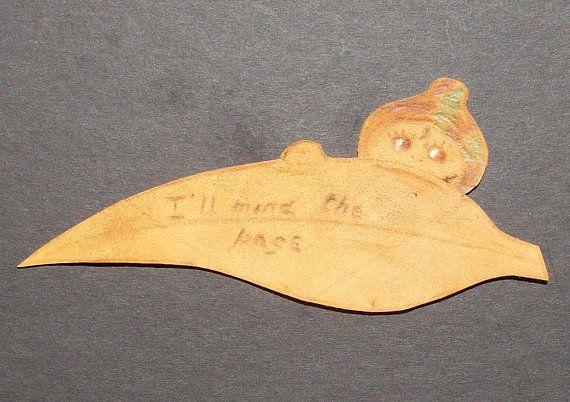 leather bookmark gumnut baby