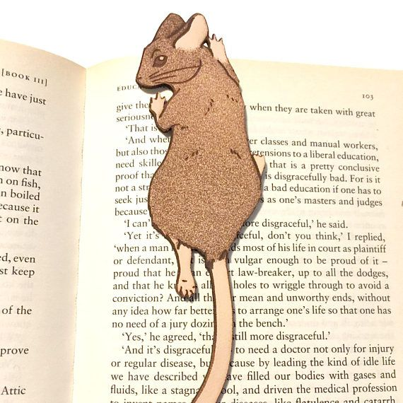 leather bookmark mouse