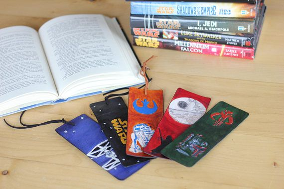 leather bookmarks star wars