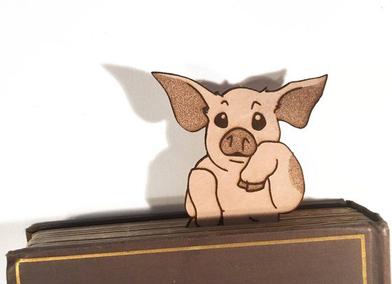 leather bookmark pig charlotte's web