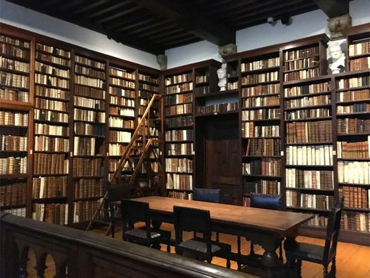 Preserved library room of Plantin-Moretus Museum