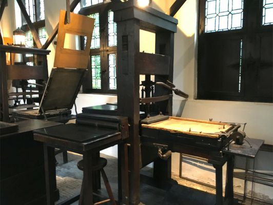 Authentic wooden printing press
