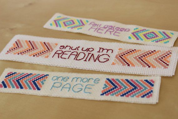 Simple cross stitch bookmark pattern