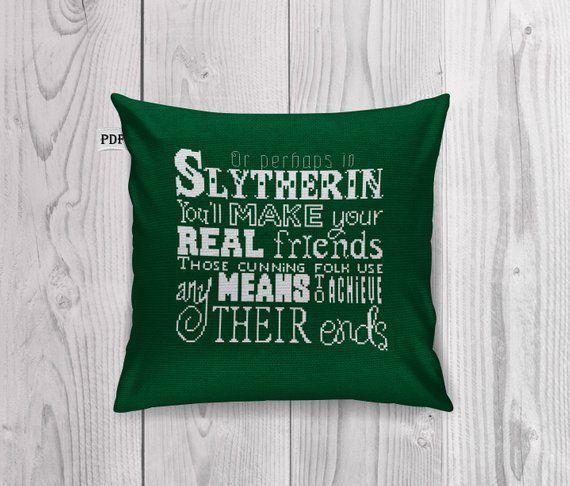 Harry Potter cross stitch pillow pattern