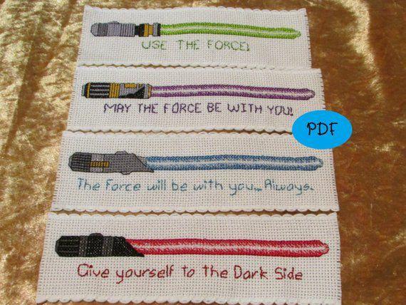 Star Wars bookmark cross stitch