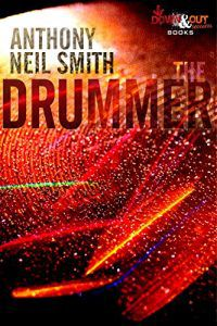 the drummer cover (a cymbal reverberating with multicolored water droplets)
