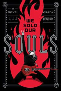 we sold our souls cover (black background with red flame and a red electric guitar at the bottom)