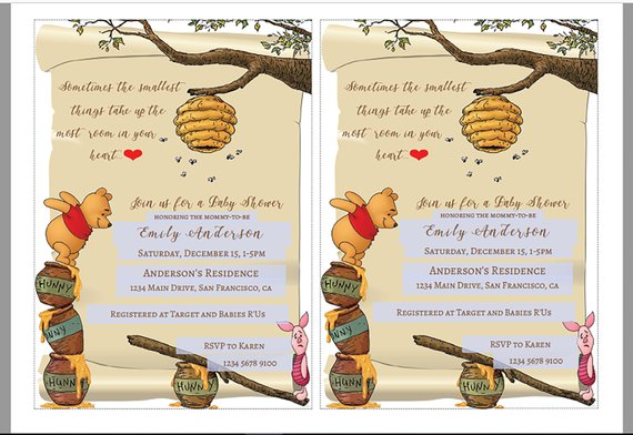 graphic relating to Printable Winnie the Pooh Baby Shower Invitations named How In direction of Acquire The Maximum Lovely Winnie the Pooh Little one Shower