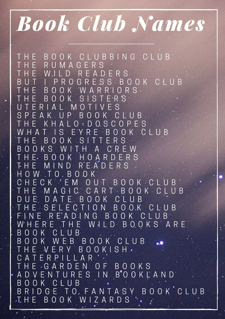 50+ Puntastic And Fun Book Club Names | Book Riot