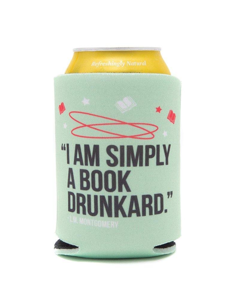 """Reserve Coozie para bebidas enlatadas que dicen """"Simplemente soy un borracho de libros"""""""