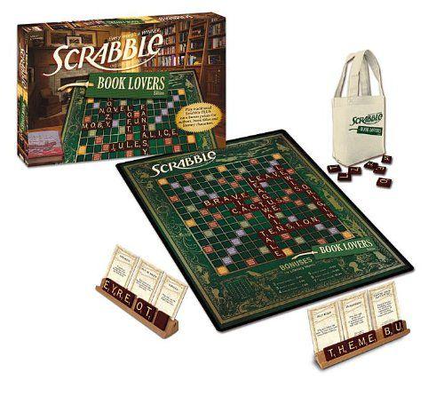 Book lover Scrabble board and box