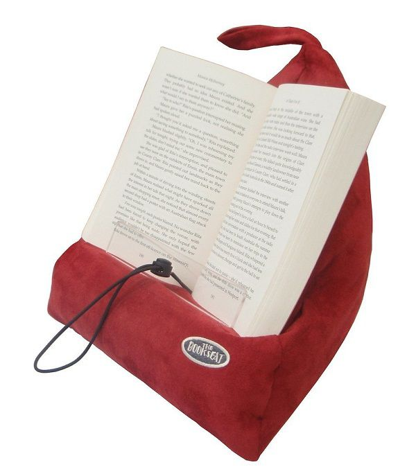 Read pillow with book propped open