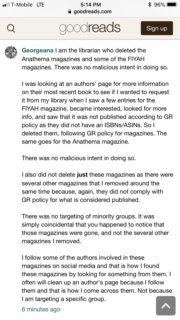 All Issues of FIYAH Literary Magazine Removed from Goodreads
