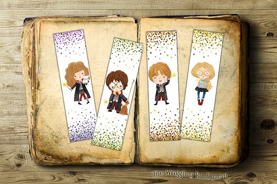 Get These Enchanting DIY And Printable Harry Potter Bookmarks