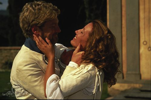 Kenneth Branagh and Emma Thompson in a scene from Much Ado About Nothing