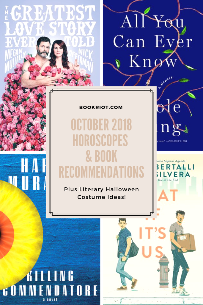 October 2018 Horoscopes and Book Recommendations graphic