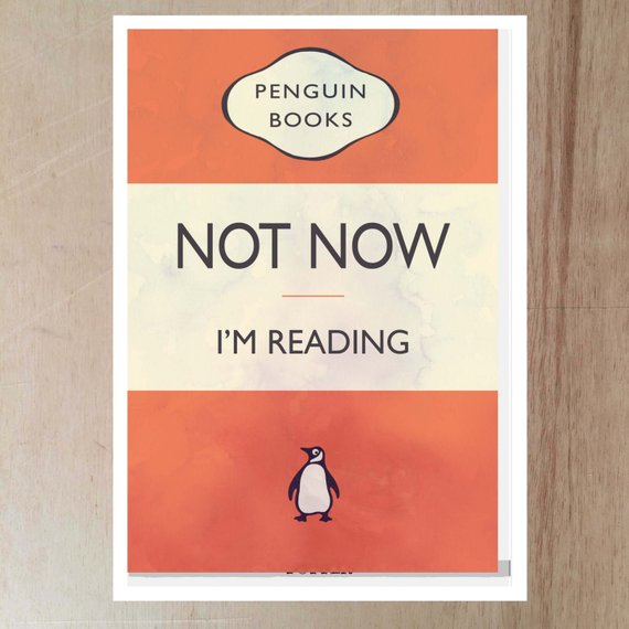 Poster That Looks Like A Classic Penguin Paperback Say Not Now Im