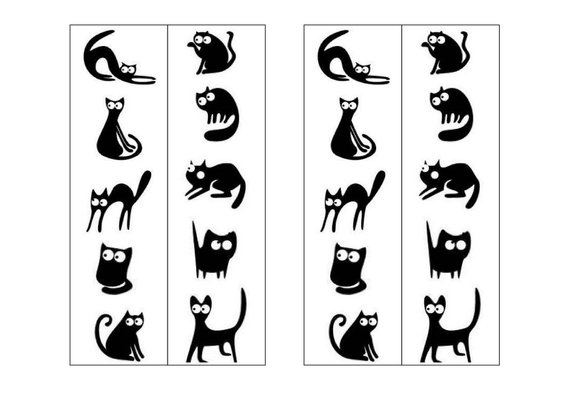 image about Cat Printable known as Wonderful Cat Bookmarks in direction of Remember to Just about every Cat Spouse E-book Revolt