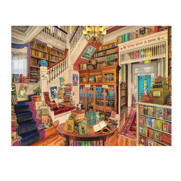 Image Of A Room Full Books Readers Paradise Puzzle