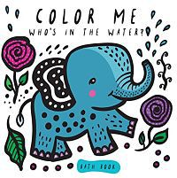 Book cover for color me: who's in the water soft book