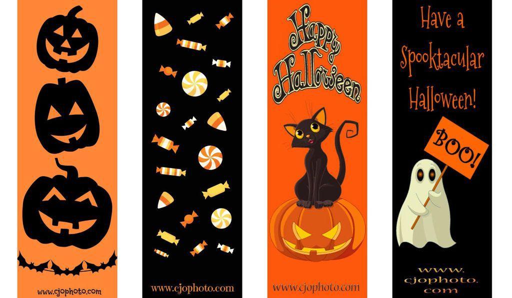 free halloween bookmarks