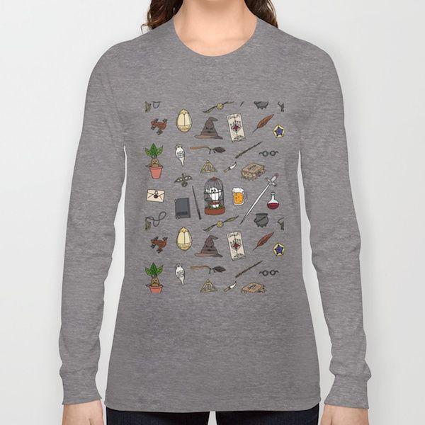 Harry Potter Pattern Long Sleeve Shirt