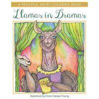 llamas in dramas colouring book cover