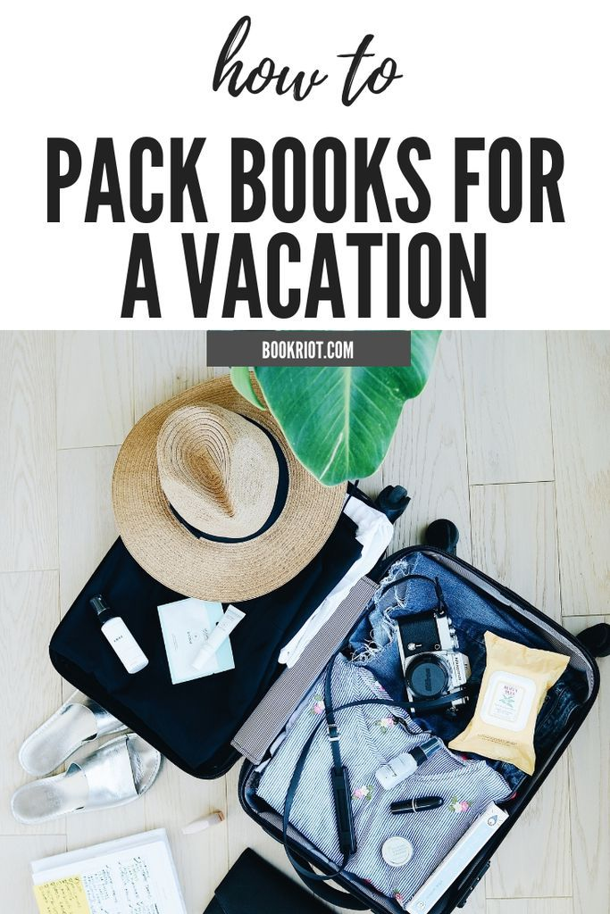 4 Tips on How to Pack Books for Vacation