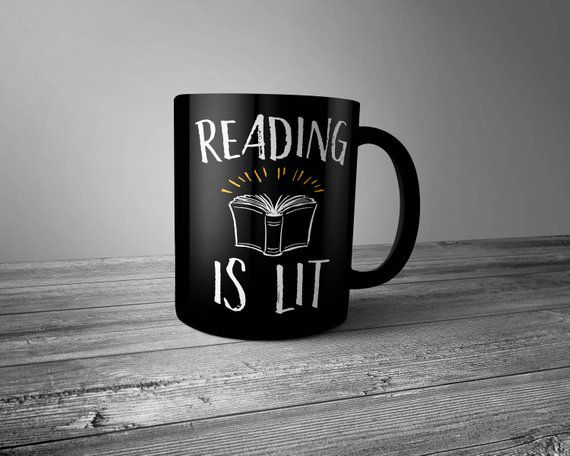reading is lit mug